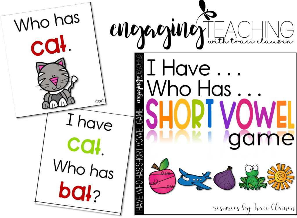 "CVC Word Work – ""I Have – Who has"" CARDS"