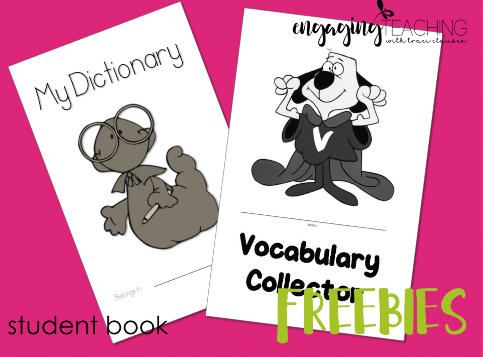 Dictionary and vocab freebie