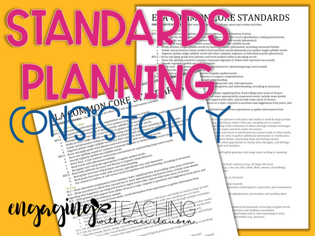 Standards Planning Consistency