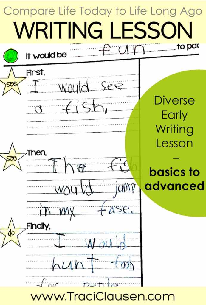 differentiated early writing lesson