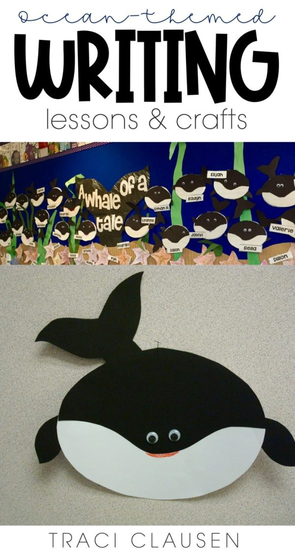 Whale of a Tale craft and bulletin board