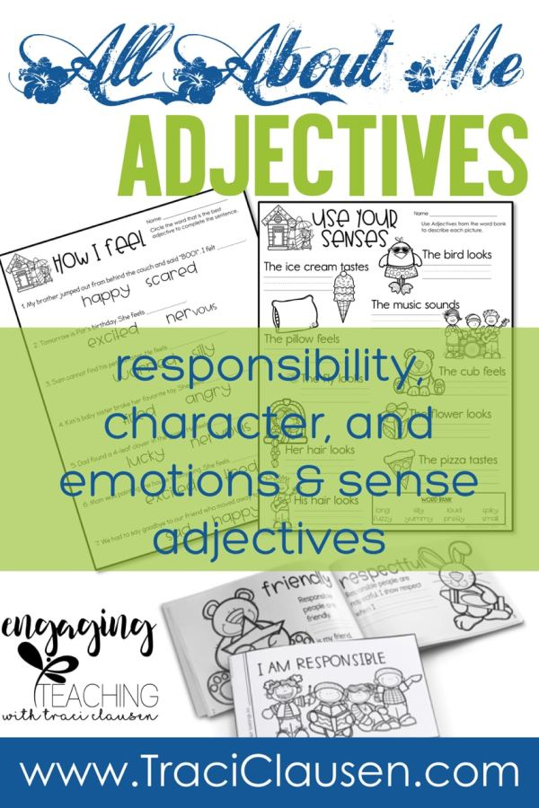 All About Me Adjective Activities