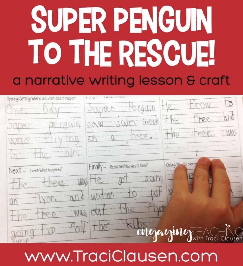 Student Sample of super penguin narrative plan