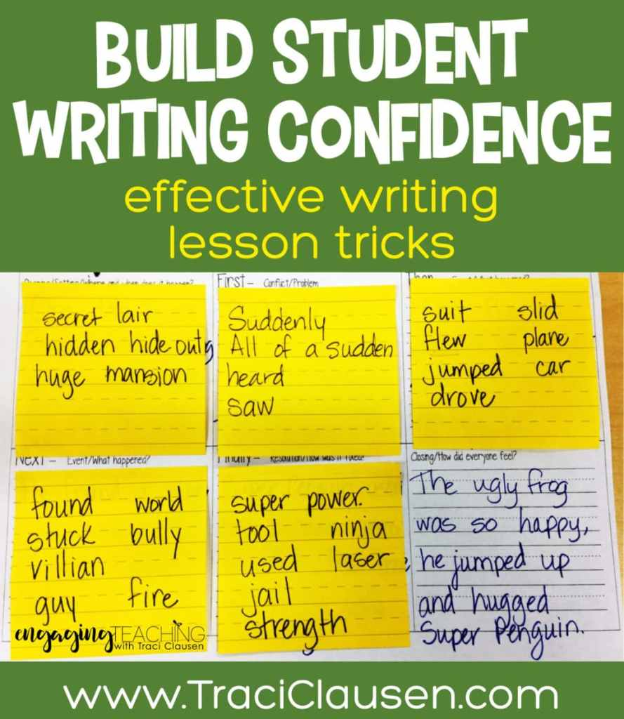 Post it notes on writing plan