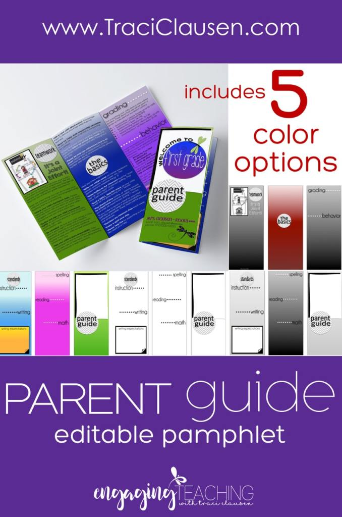 Parent Guide Color Options