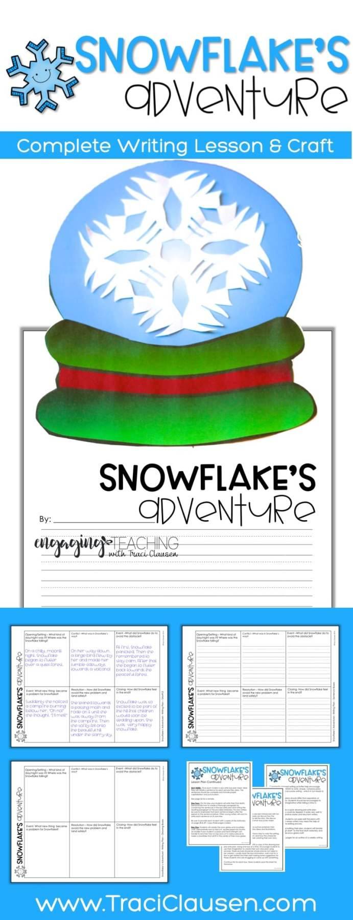 Snowflake's Adventure Writing Lesson