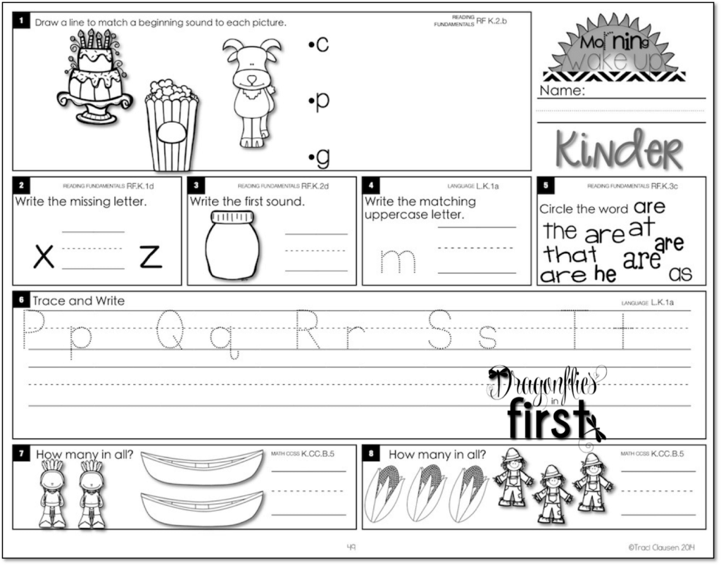 Meaningful and Engaging Morning Work for K-2! • Morning Wake Up! [ 803 x 1024 Pixel ]
