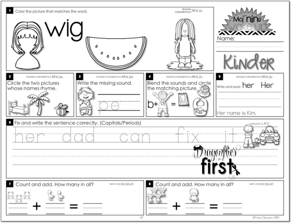 small resolution of Meaningful and Engaging Morning Work for K-2! • Morning Wake Up!