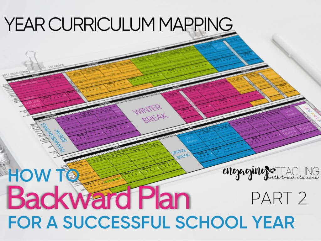 Backwards Planning for School Year Success Part 2
