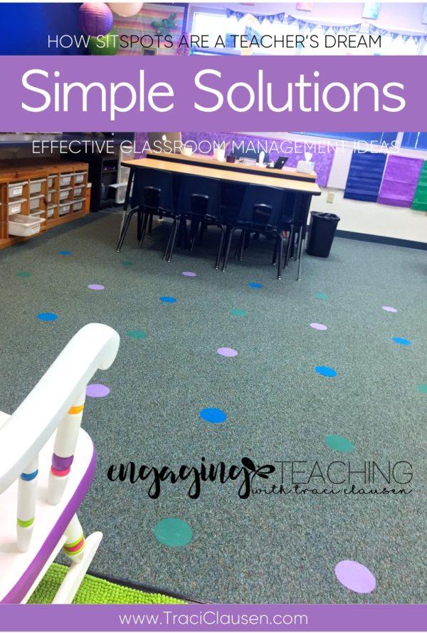 Sit Spots Behavior Management