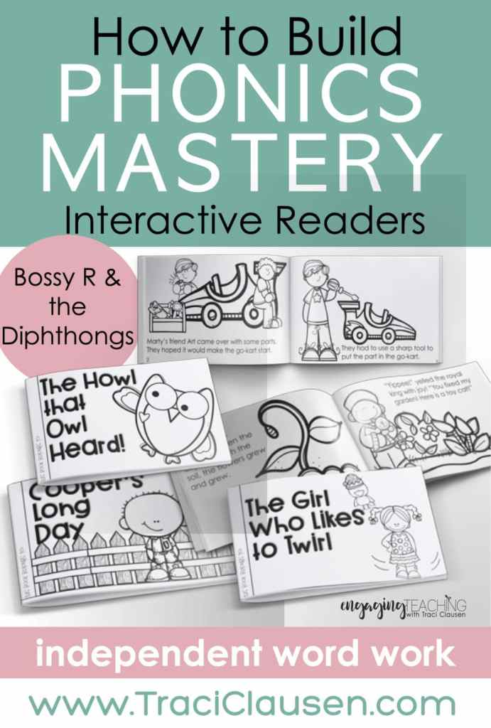 Bossy 4 and diphthongs interactive readers