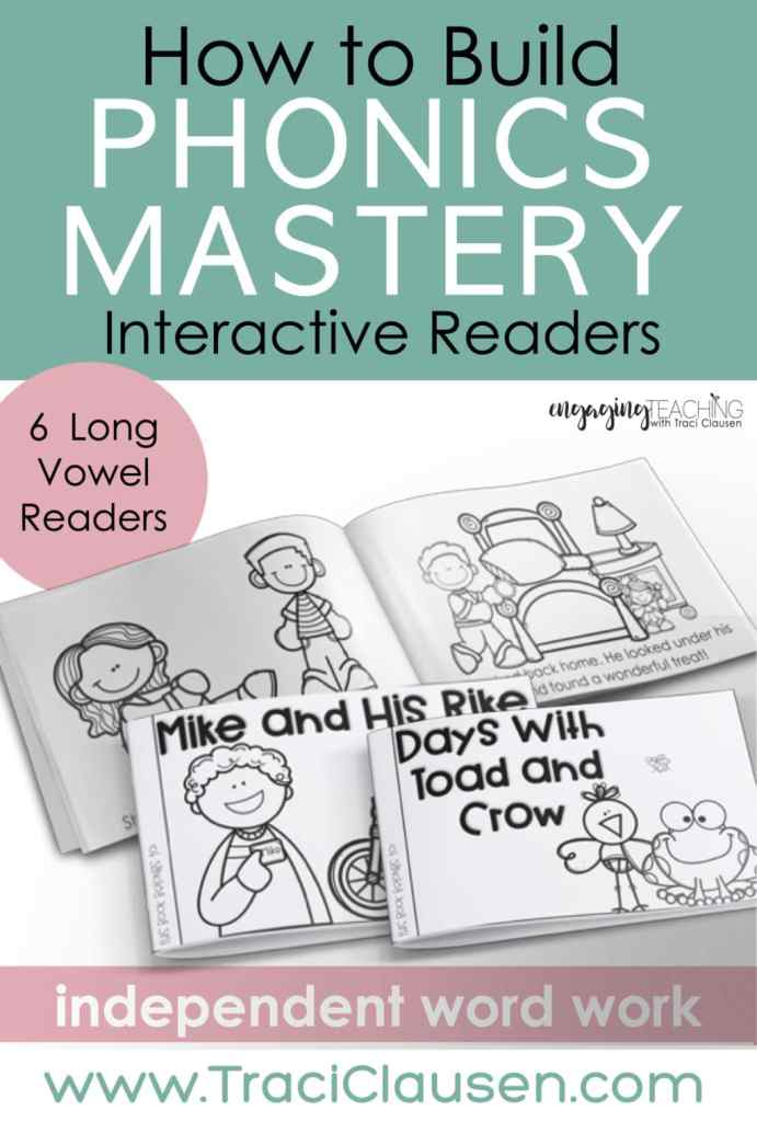long vowel interactive readers