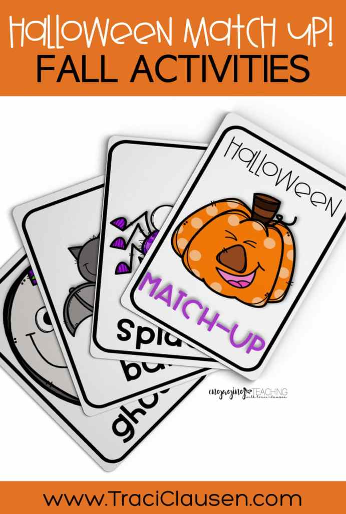 halloween match up game cards