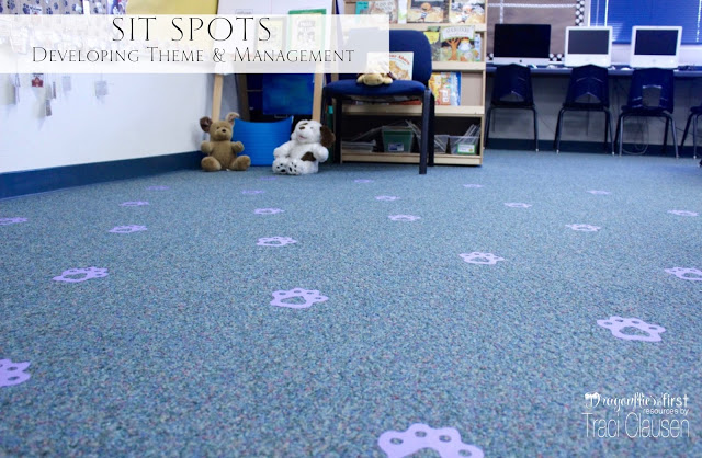 SitSpots for Classroom Management in dog themed room