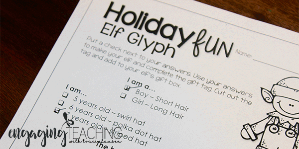 Elf Glyph and Narrative Writing Lesson- Engaging Teaching with Traci Clausen