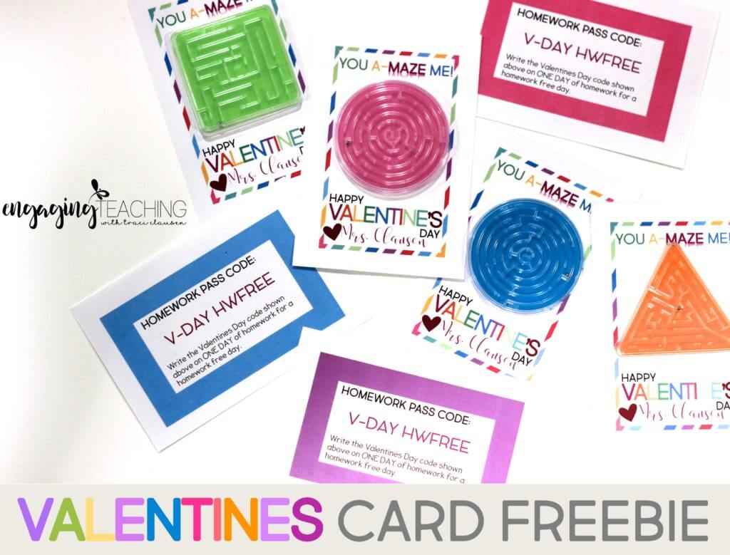 You A-Maze Me! Valentine Card Freebie