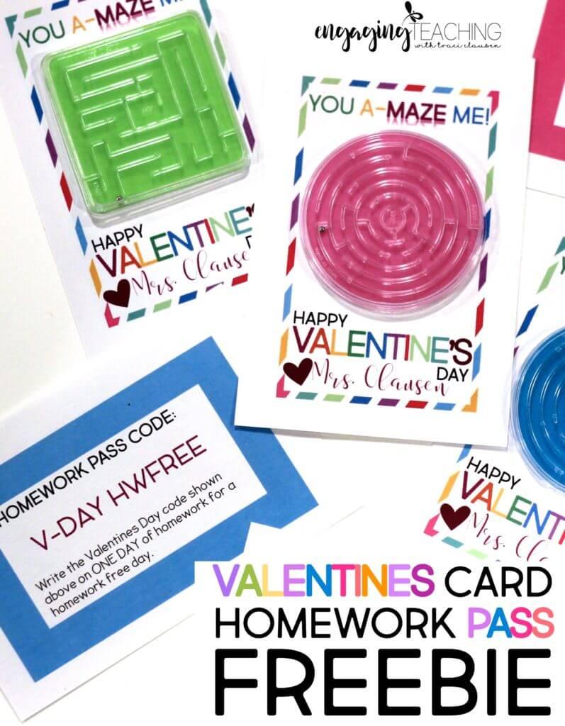 Valentine Card Freebie - Traci Clausen