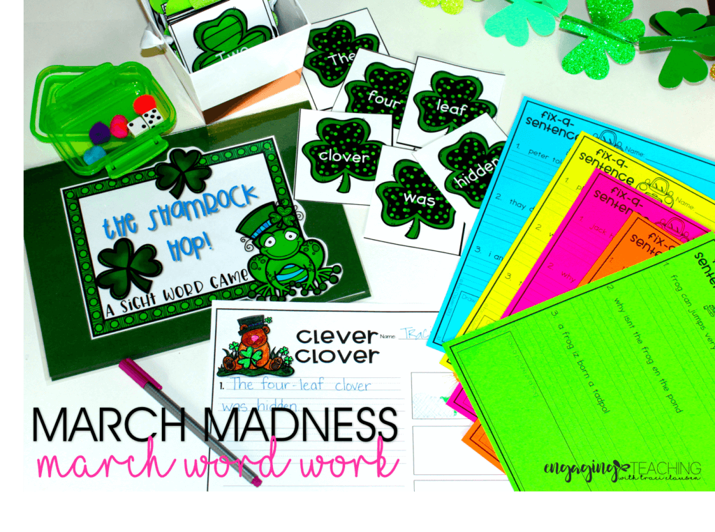 March Madness Word Work - March Resource Round Up - Traci Clausen