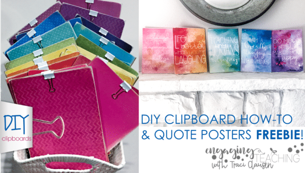 DIY Clipboards and FREEBIE