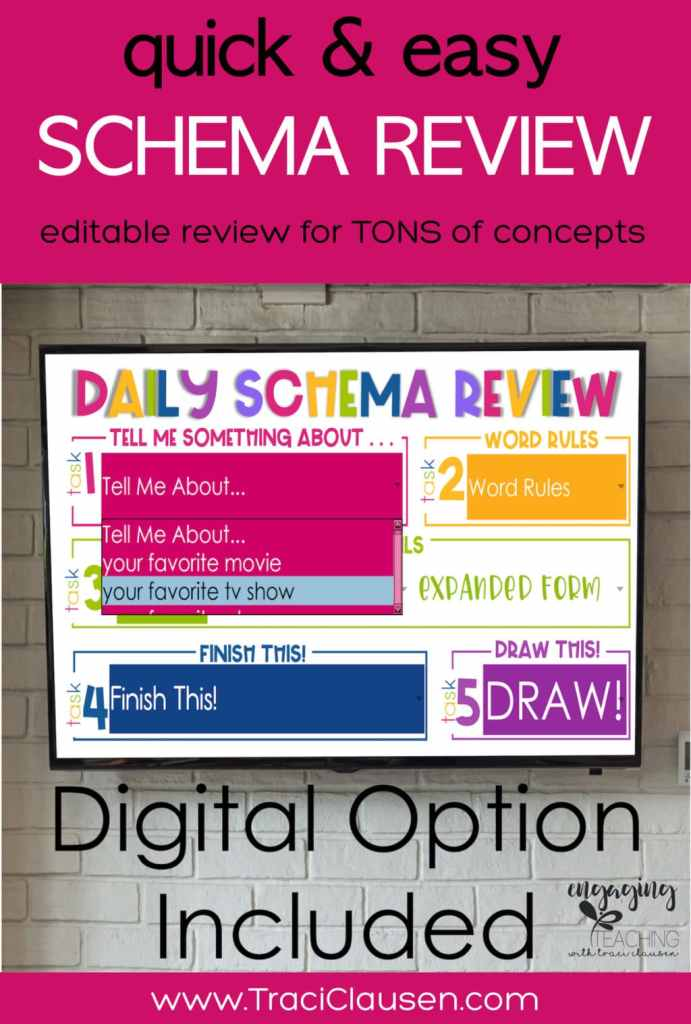 Daily Schema Review Digital