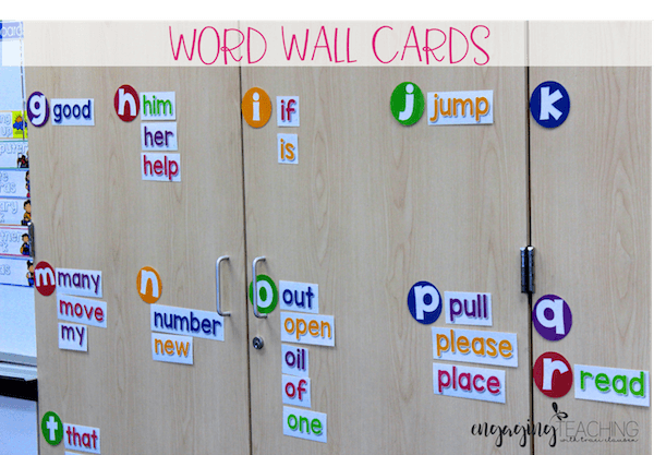 Word Wall Cards - Vanilla Sherbet Classroom Essentials