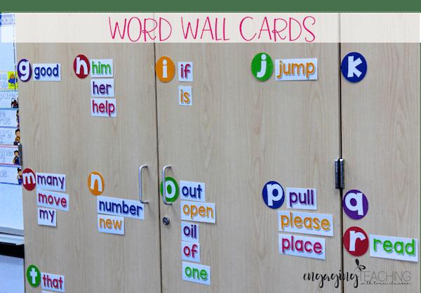 Word Wall Cards - Vanilla Sherbet Classroom Essentials