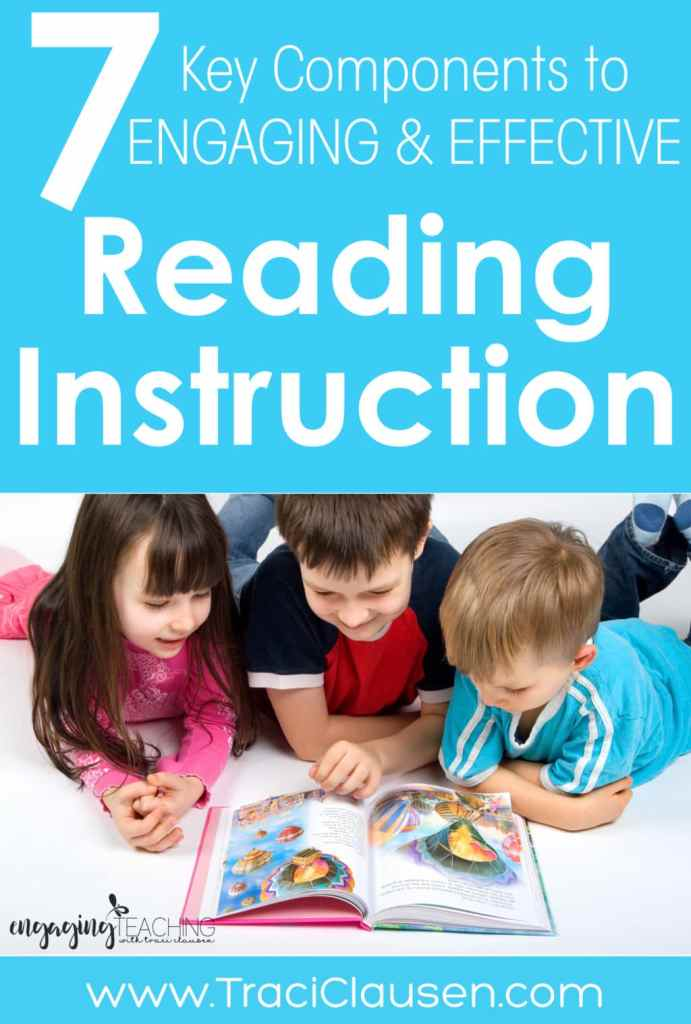 7 key and effective reading instruction strategies.