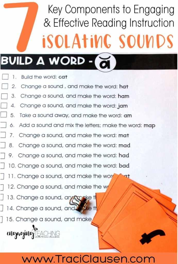 Build A Word Isolating Sounds Activity