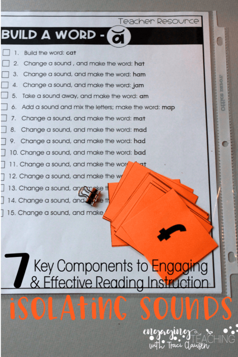 7 Key Components for Effective and Engaging Reading Instruction and Building Successful Readers - isolating sounds