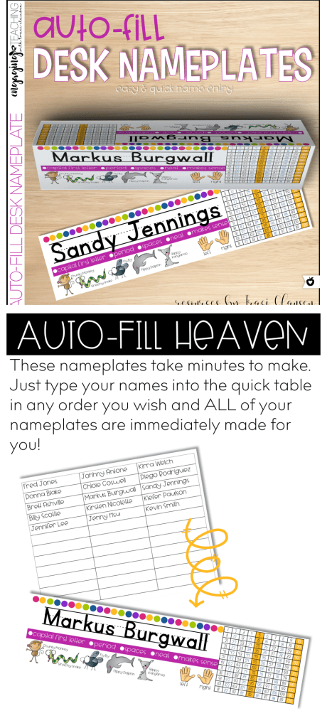 No more desk nameplate adhesive issues!! LOVE that these are auto-fill!!