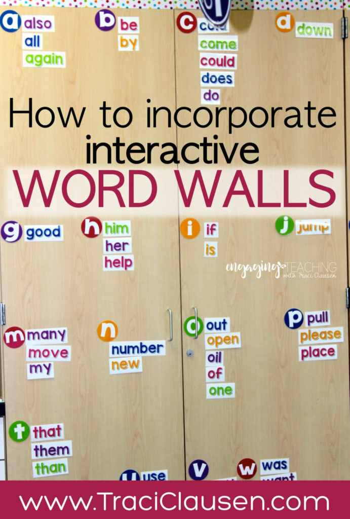 How to Incorporate interactive word walls
