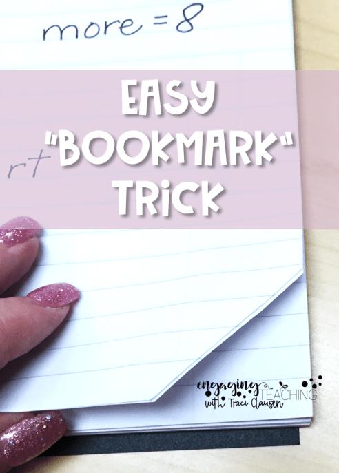 No Fuss Math Bookmark Trick