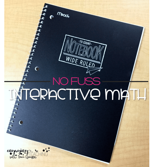 No Fuss math Sample Journal