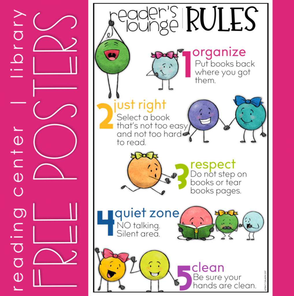 Readers Lounge Rules Poster FREEBIE