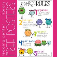 Readers Lounge Rules Poster FREEBIE