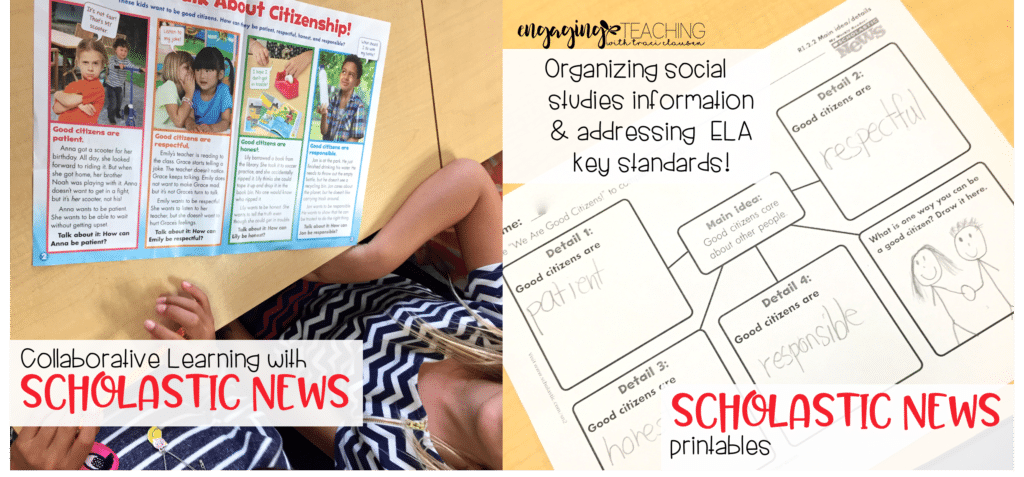 Scholastic News for Collaboration and graphic organizers. Engaging and Rich Social Studies and Science Content - TraciClausen.com