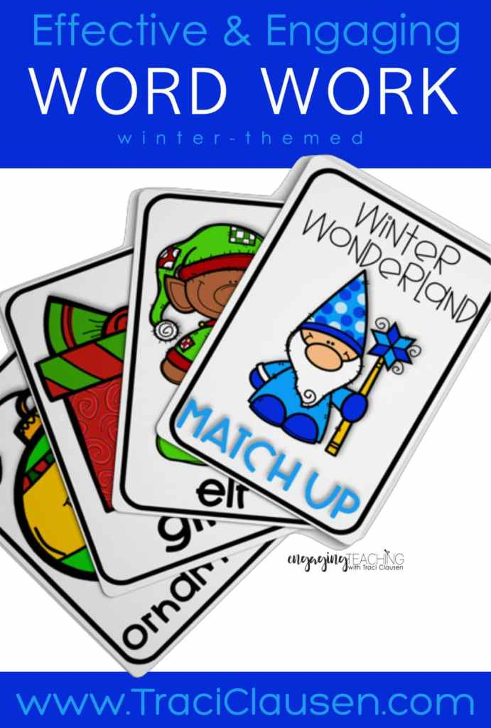 Winter Wonderland Word Work Cards
