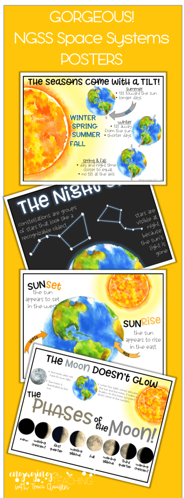 Posters for NGSS space systems lesson - engagingteaching.com