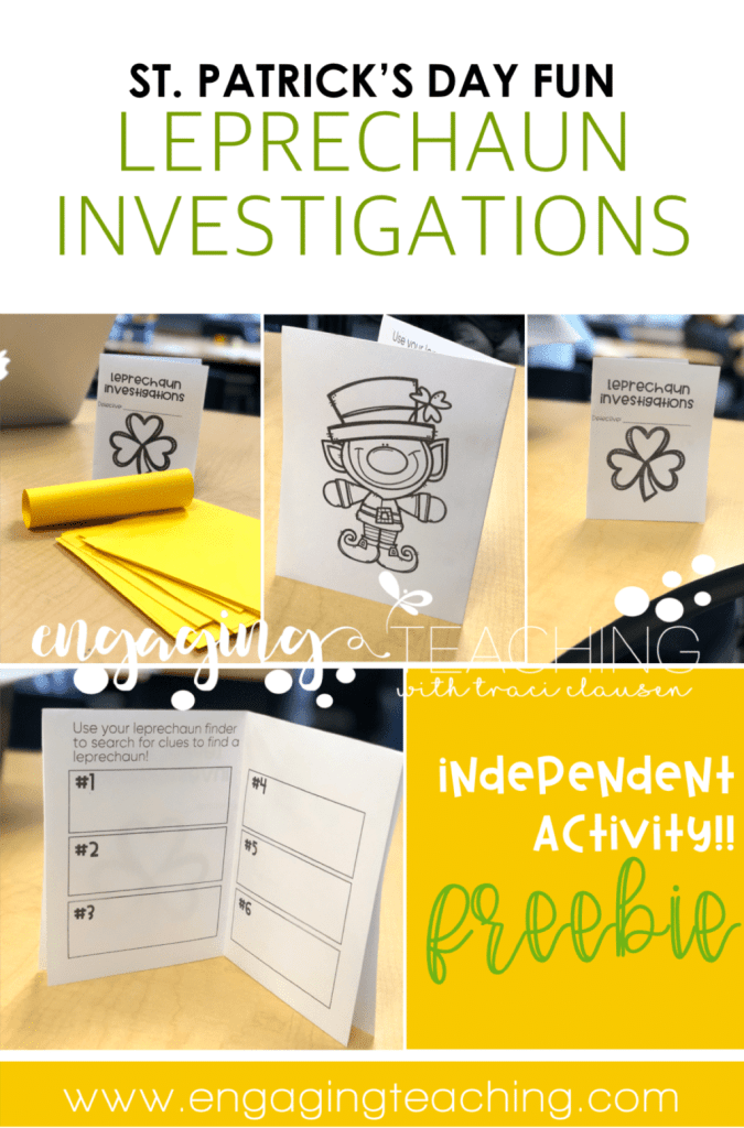St. Patrick's Day - leprechaun investigations freebie