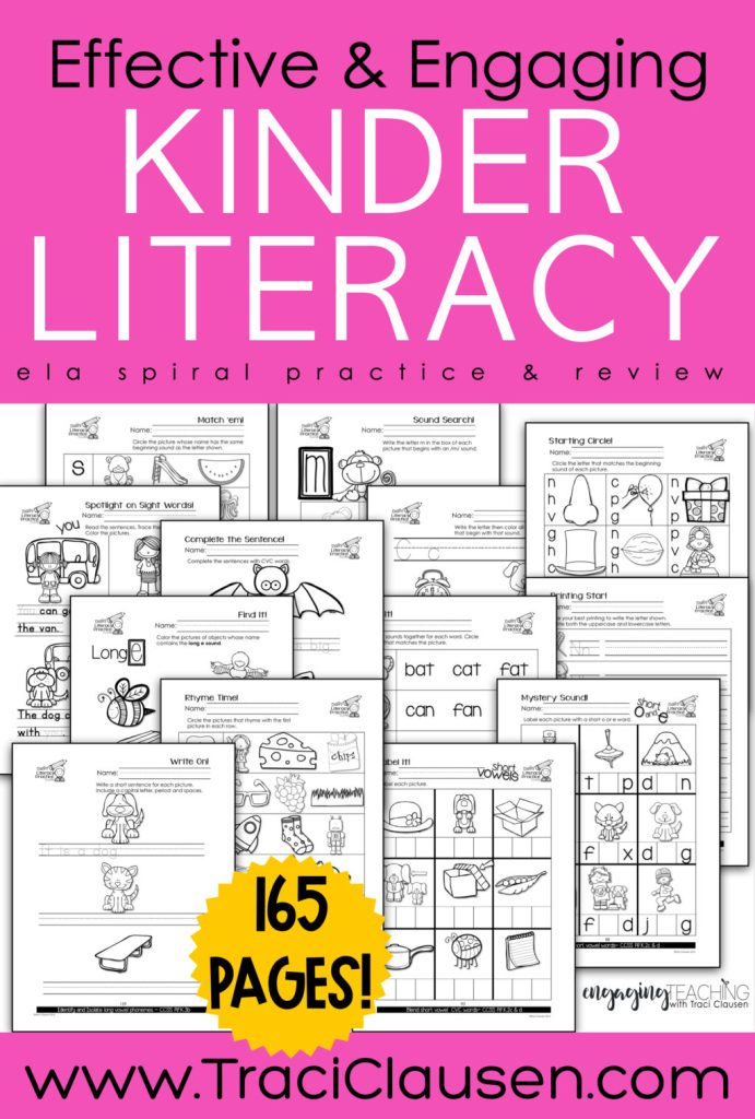 Daily Literacy Practice Activity page