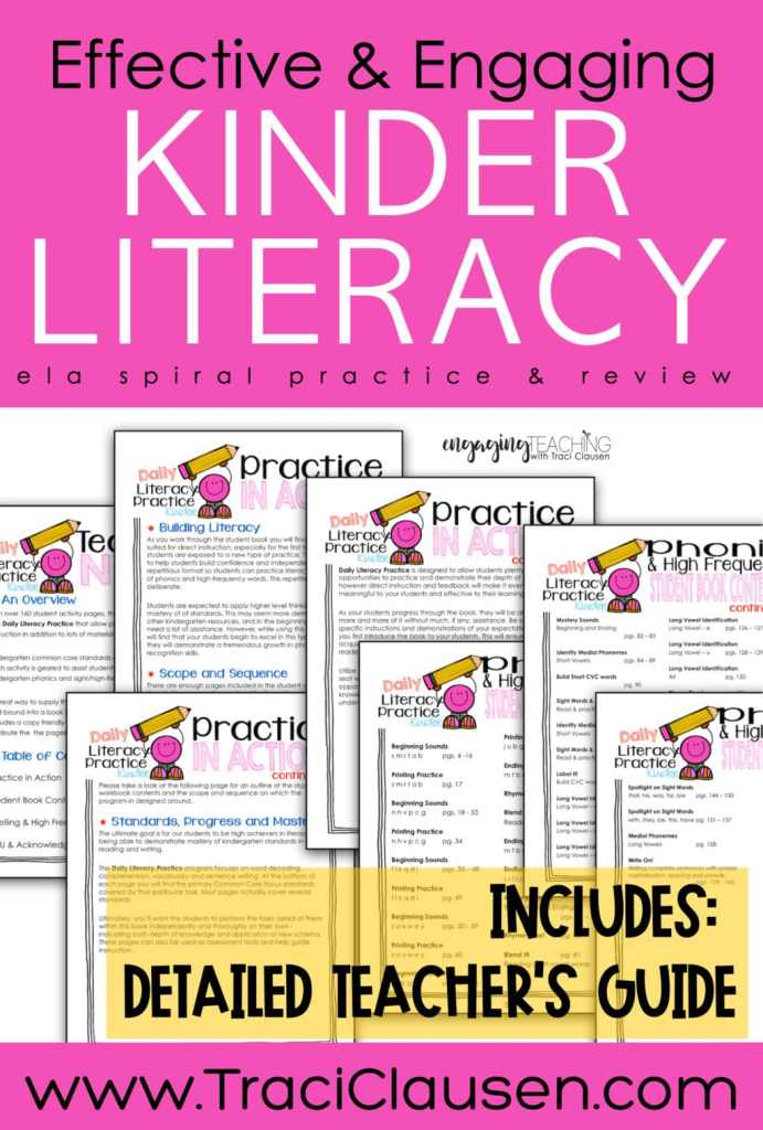 Daily Literacy Practice Guide pages