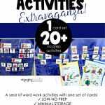 Long vowel Word Work Activity samples