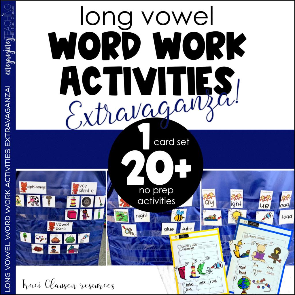 Long vowel Word Work Activities Extravaganza resource Cover