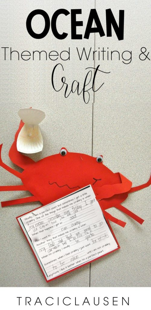 Crab craft and writing assignment