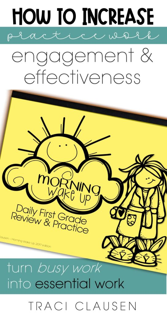 Morning Wake Up workbook - Increase Student Engagement with Practice Work