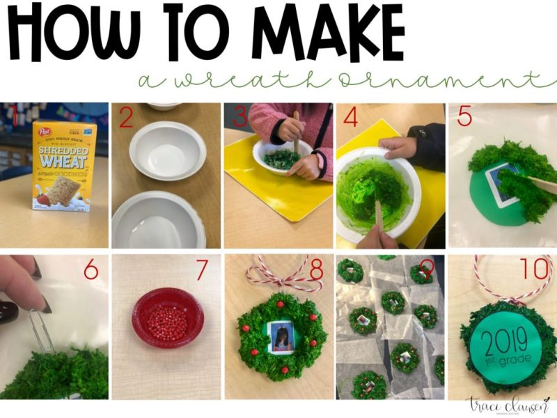 Directions for making holiday wreath