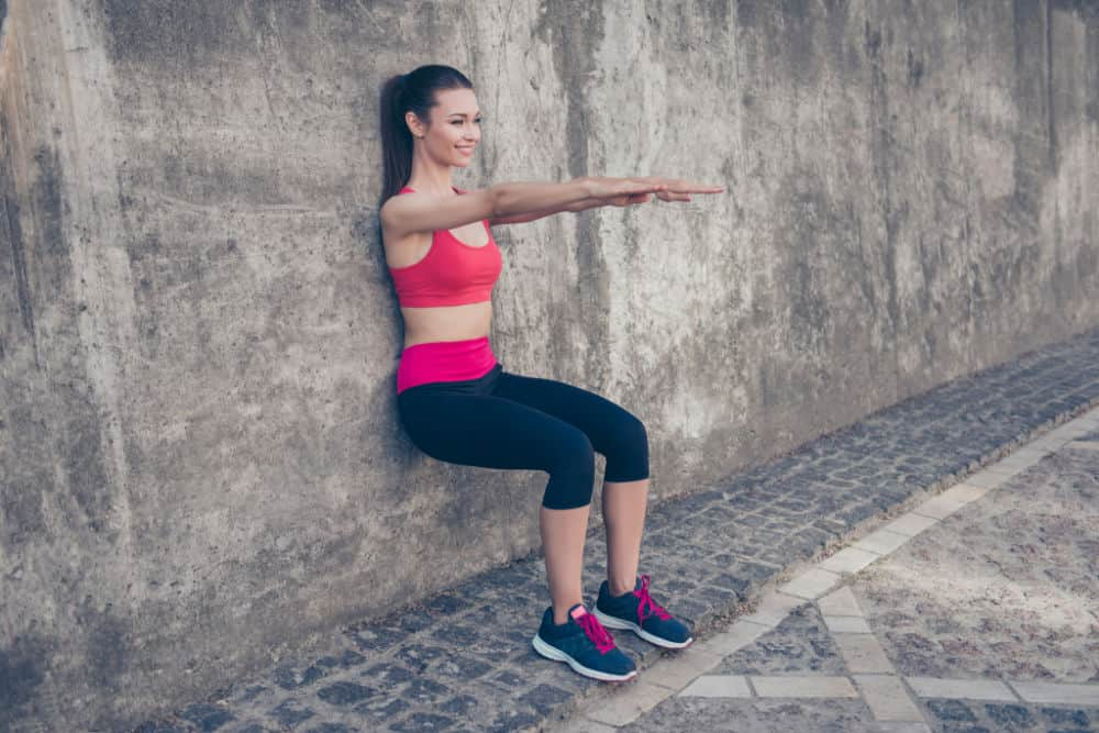 how to do a wall squat