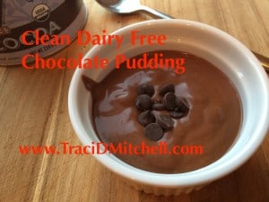 Clean Dairy Free Chocolate Pudding
