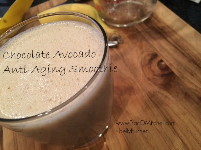 Chocolate Avocado Anti Aging Smoothie