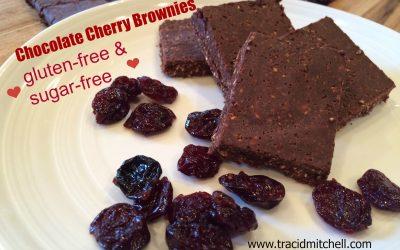 No Bake Chocolate Cherry Brownies